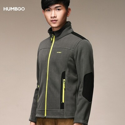 Humbgo Men's Fleece jacket collared north fox edition