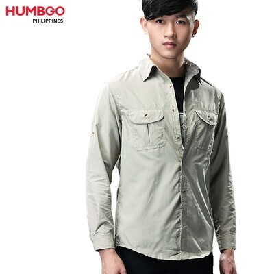 Humbgo men's tear proof, long sleeve polo