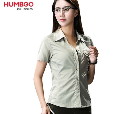 Humbgo women's tear proof, short sleeve polo