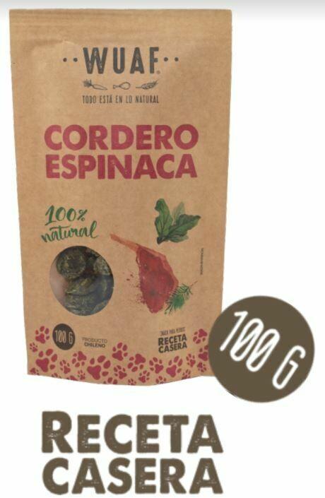 Snack Perro Cordero Espinaca