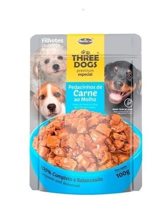 Sache Three Dogs Orig. Cachorro Carne 100 Gr.