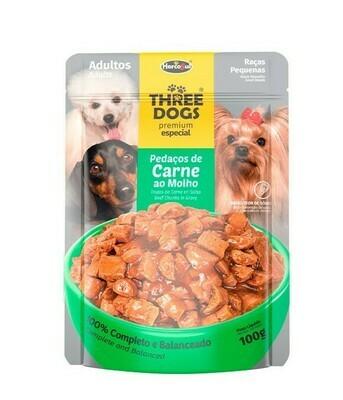 Sache Three Dogs Orig. Adultos Raza Pequeña 100 Gr.