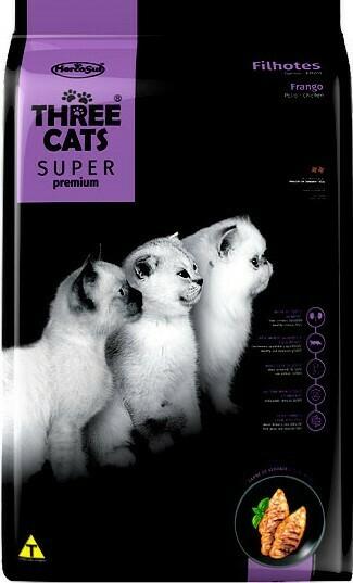 Three Cats Super Premiun Gatito - Pollo 3 Kg.  Oferta Lanzamiento