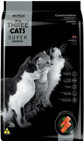 Three Cats Super Premiun Gato Castrado Salmón  10,1 Kg.  Oferta de Lanzamiento