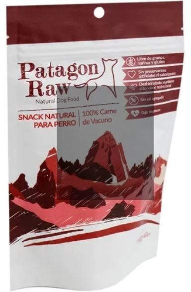 Patagon Raw Snack  para  Perro - Vacuno   40 Gr.