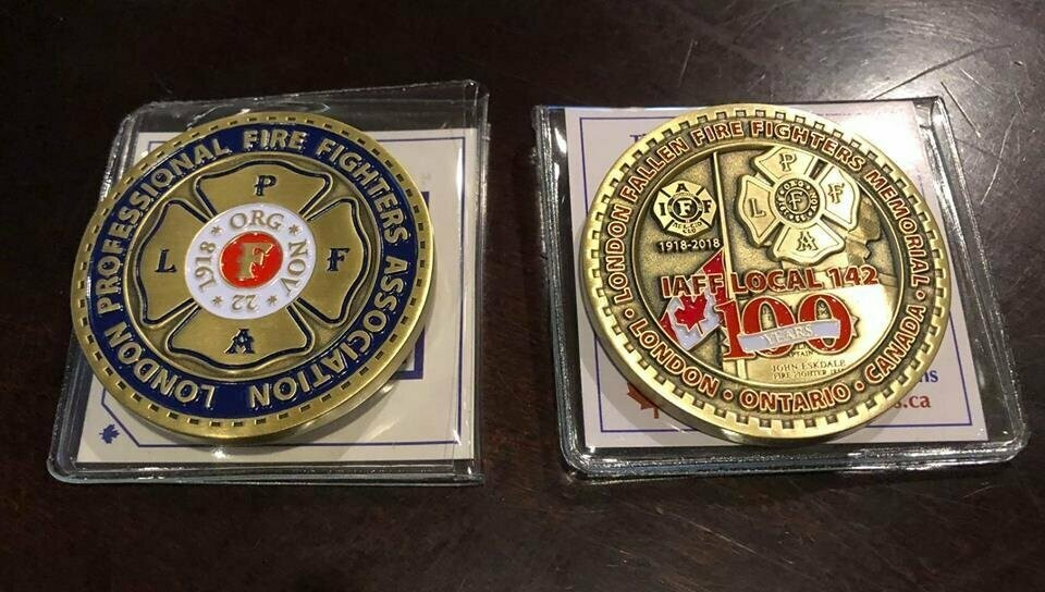 LPFFA 100th Anniversary Challenge Coin - 10 pack