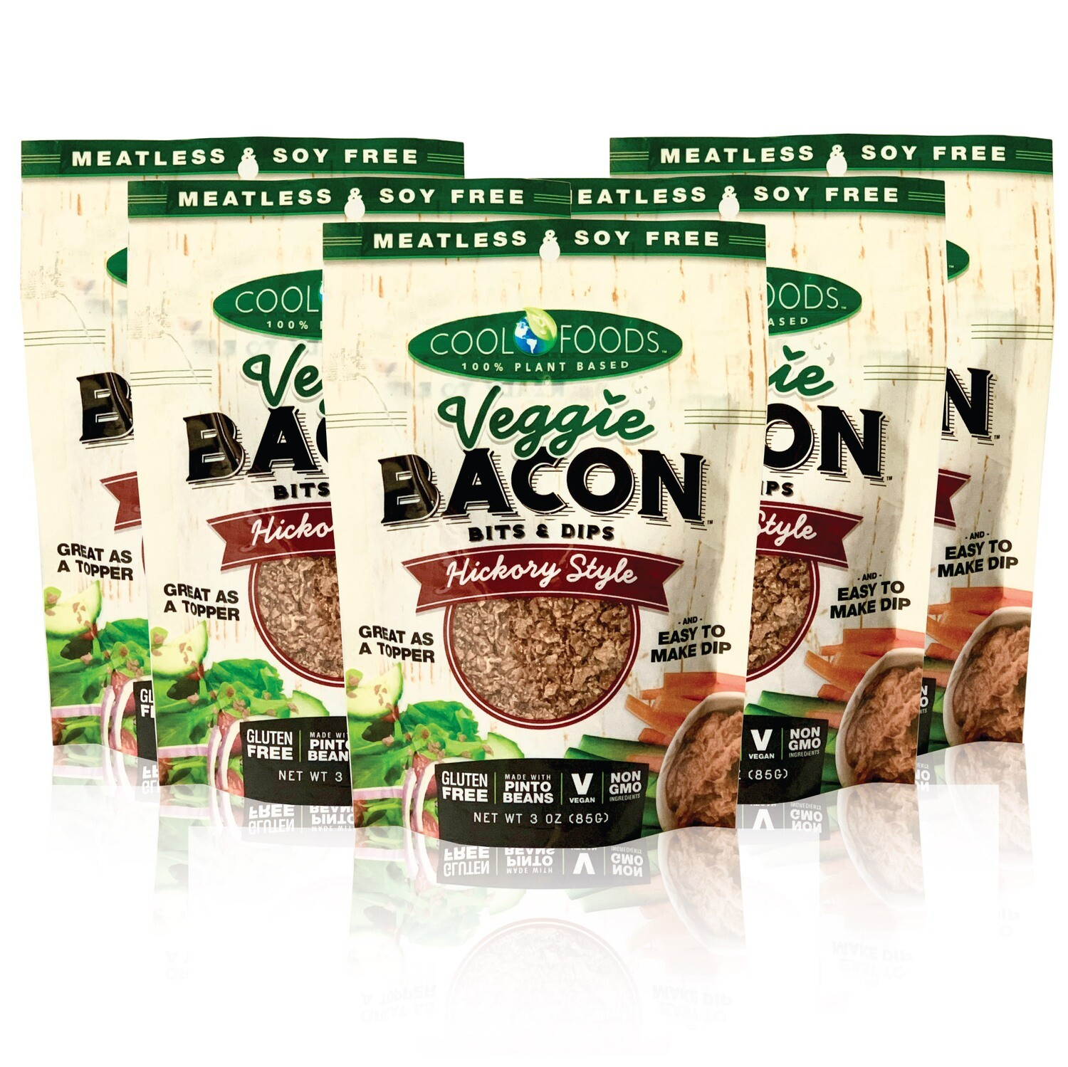 Veggie Bacon Bits & Dips - Hickory Style - 5 Pack