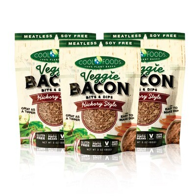 Veggie Bacon Bits & Dips - Hickory Style - 3 Pack