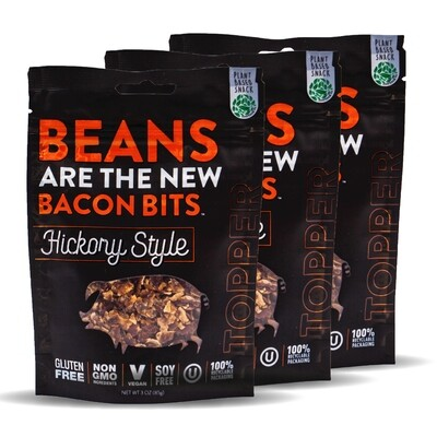 Beans Are The New Bacon BIts - Hickory Style - 3 Pack