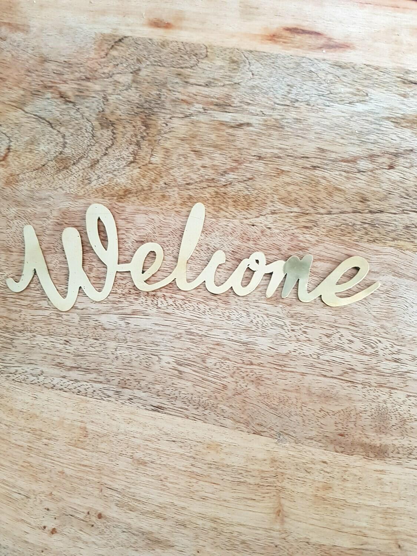 Welcome en laiton