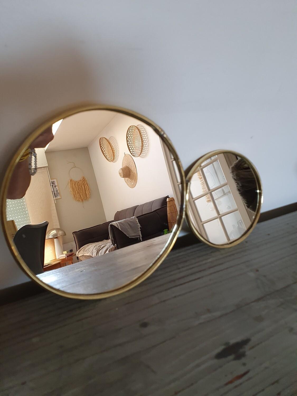 Miroir fait main rond 2 formats