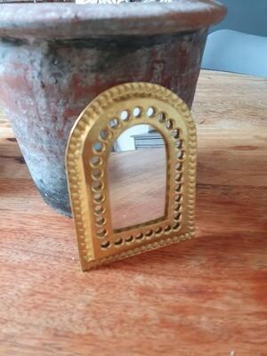 Petit miroir laiton doré