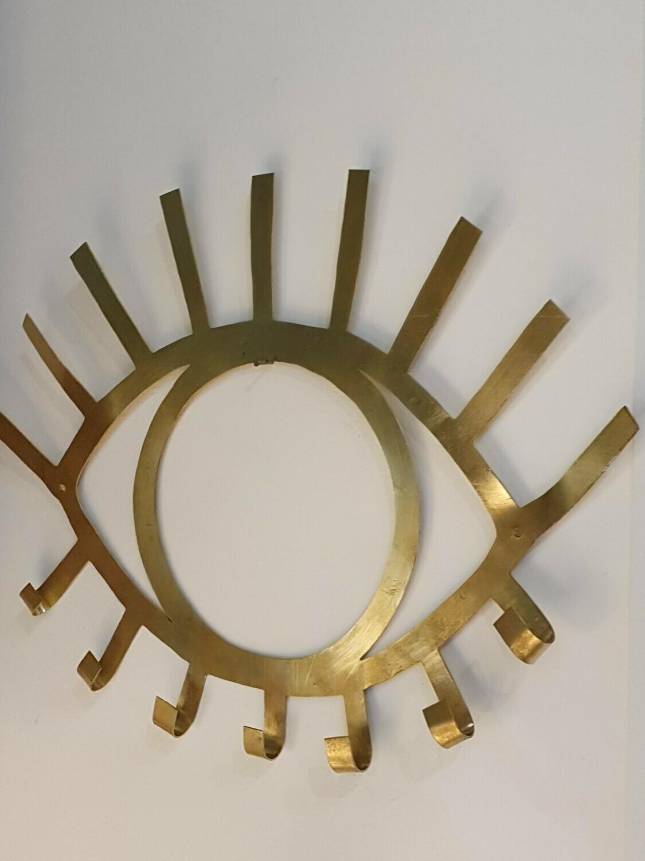 Porte bijoux Oeil en laiton doré