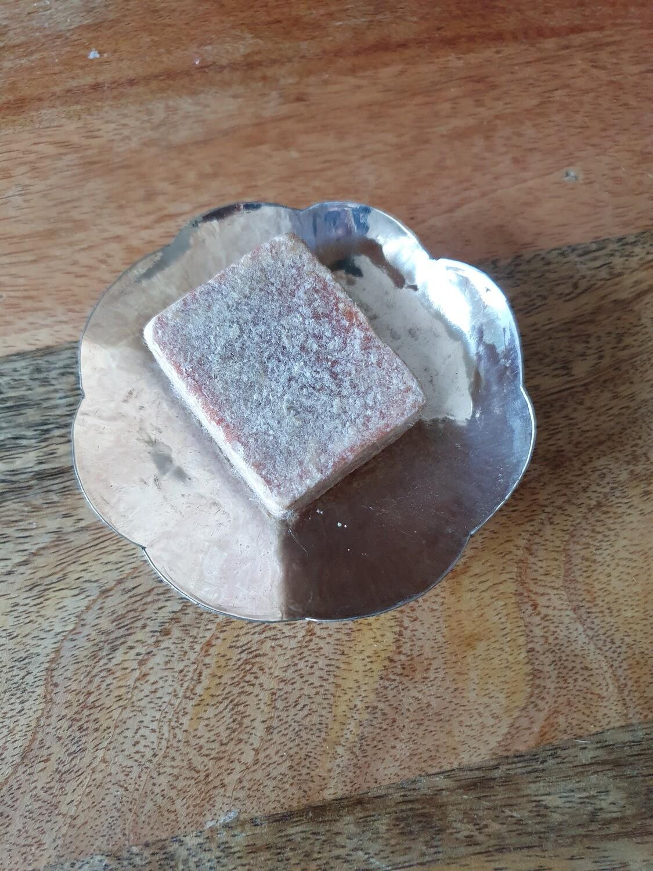 Porte savon en laiton argenté