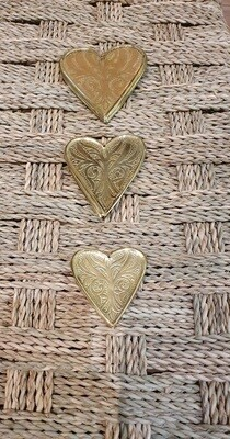 Cœurs laiton déco murale