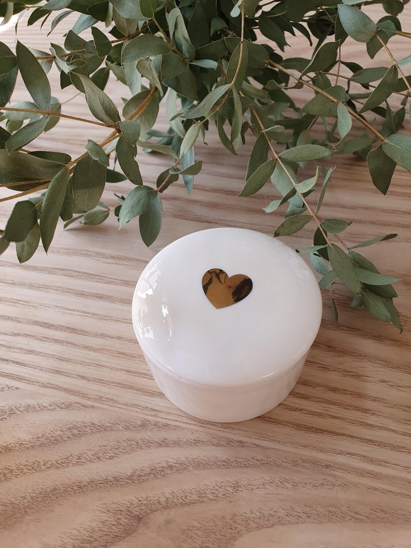 Boite coeur en céramique