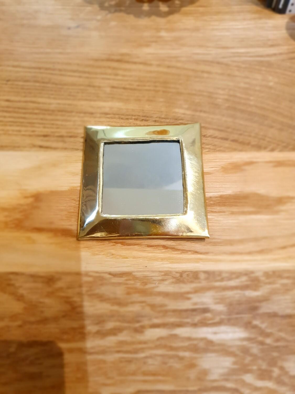 Miroir carré en laiton
