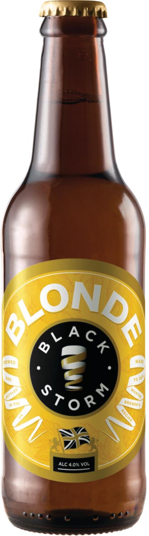 3x Black Storm 4% Blonde 500ml Bottles