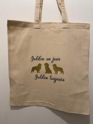 Tote bag golden
