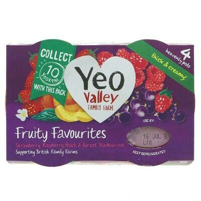Yeo Valley Fruity Favourites (4 pack)