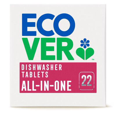Ecover Dishwasher Tablets All In One 22 Tablets