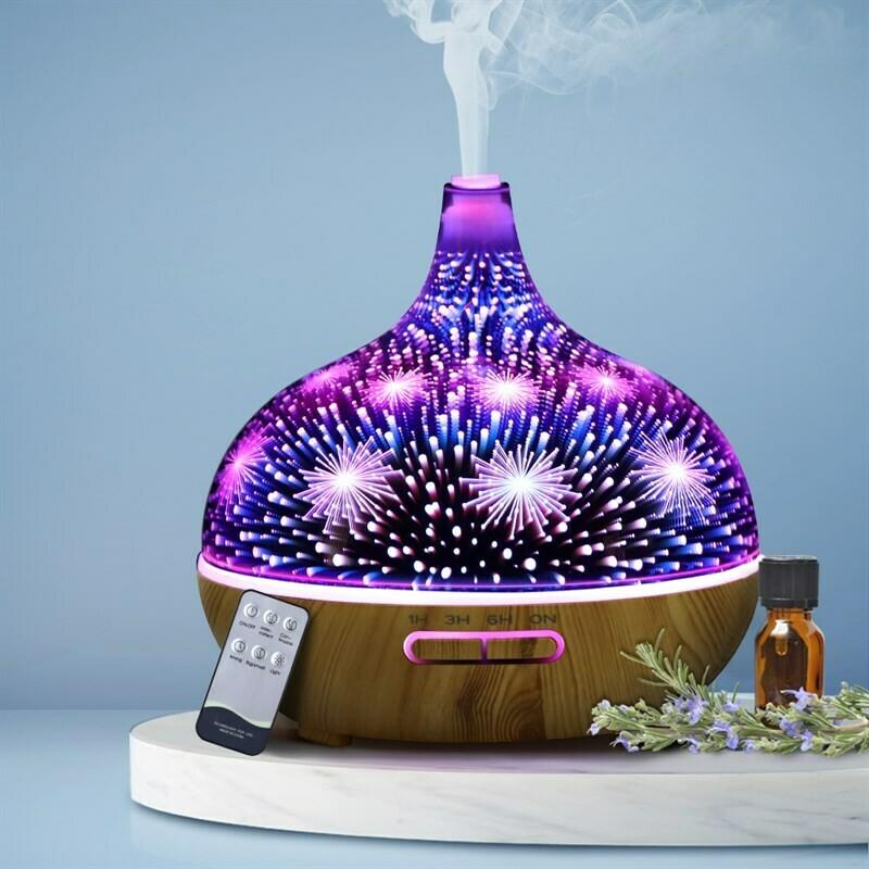 DEVANTI Aroma Aromatherapy Diffuser 3D LED Night Light Firework