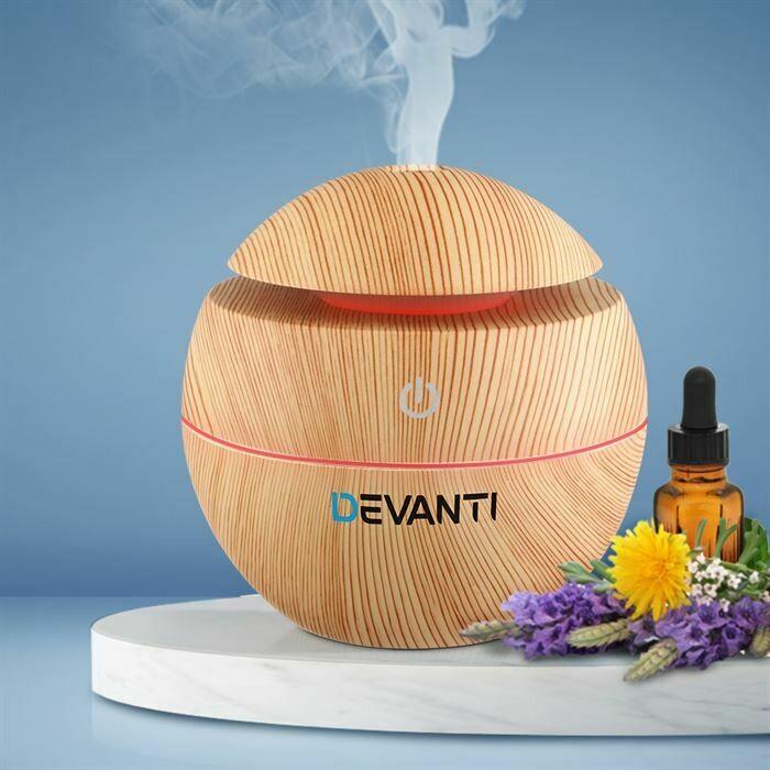 Devanti Aromatherapy Diffuser Air Humidifier LED Light 130ml