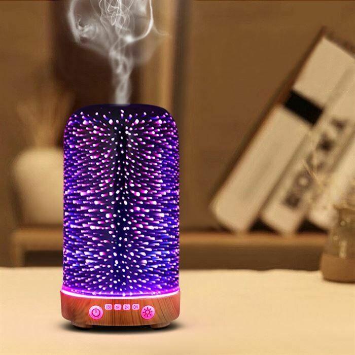 Devanti Aromatherapy Diffuser Aroma Humidifier Ultrasonic 3D Light