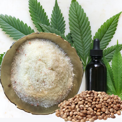 Hemp Oil & Dead Sea Bath Salts
