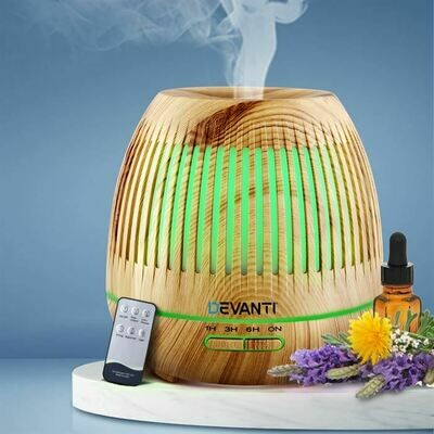 Aromatherapy Diffuser Air Humidifier LED Light 400ml