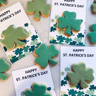 Happy St. Patrick's Cookie Card