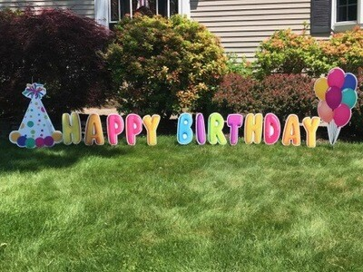 Birthday Sign and Cupcakes