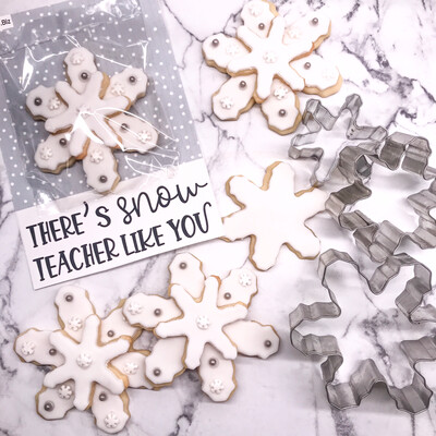 There's Snow Teacher Like You Cookie Card