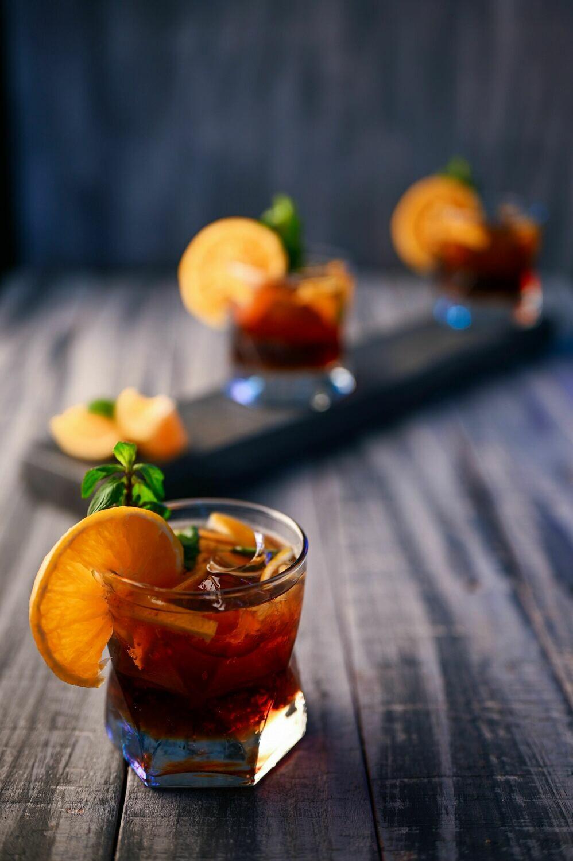 DOZEN BOURBON, CHOCOLATE, AND ORANGE LIQUOR CUPCAKES (bourbon infused)