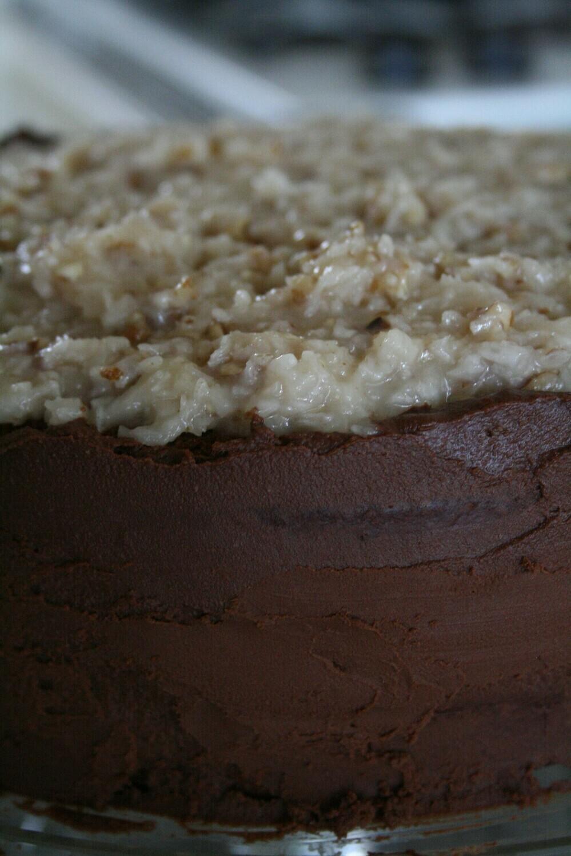 TWO LAYER GERMAN CHOCOLATE CAKE