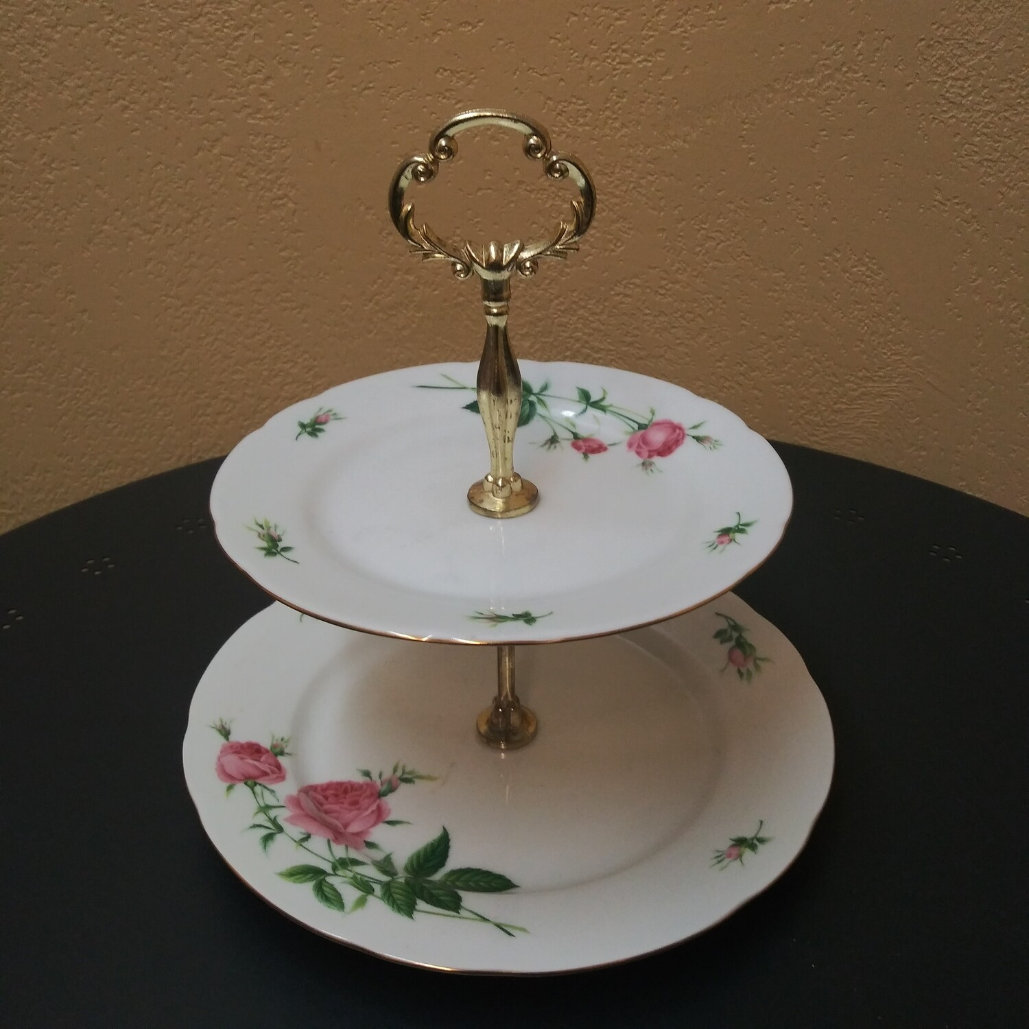Two Tier Porcelain Cake Plate