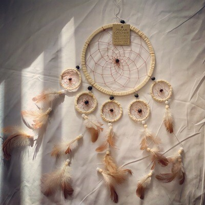 White Tan Suede Dream Catcher