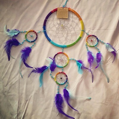Rainbow w/ Blue Tones Dreamcatcher