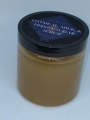 Oatmeal, Milk, & Honey Sugar Scrub 10oz. Size