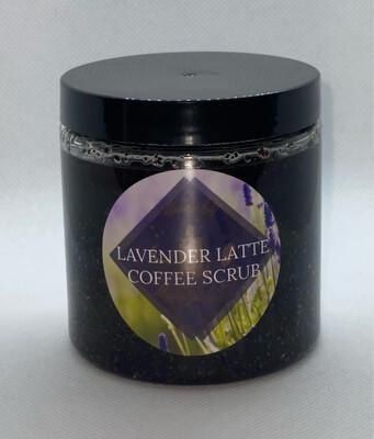 Lavender Latte Coffee Scrub 10oz. Size