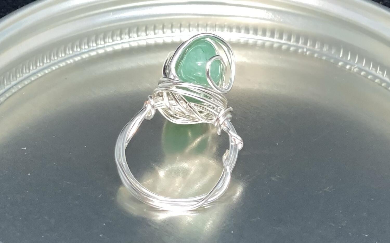 Green Aventurine Ring Size 6