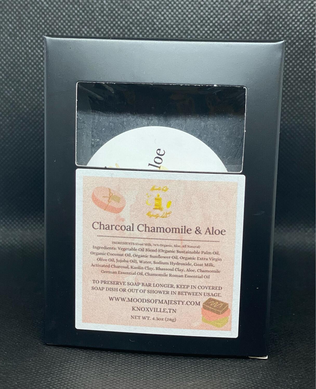 Chamomile Aloe Charcoal Soap Bar