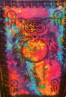 Dreamcatcher Owl Tapestry