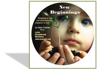 New Beginnings, CD - Scripture read w/piano accompaniment by Alaine Pakkala, Ph.D.