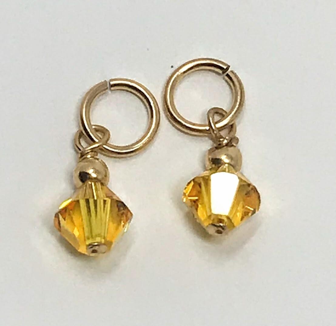 J-Citrine Crystal Drops (set)