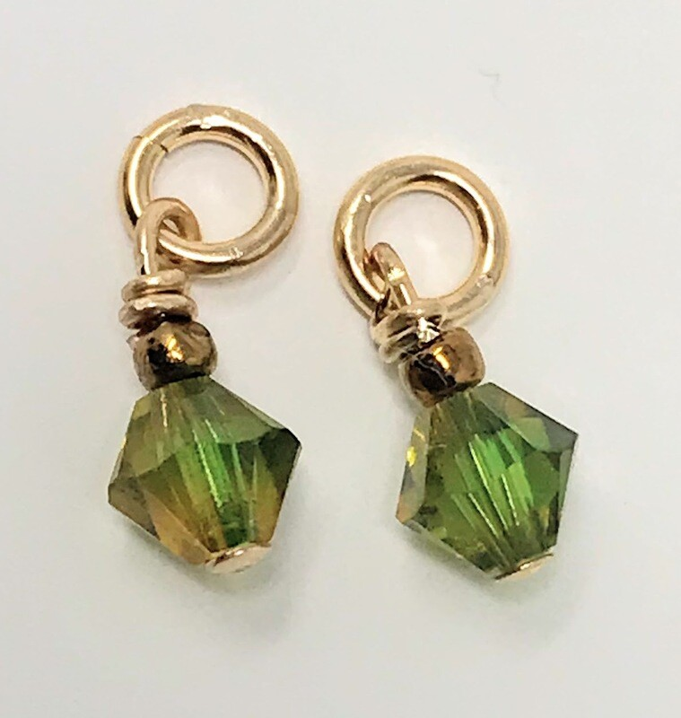 J-Peridot Green Crystal Drops (set)