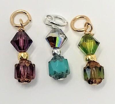 J-Crystal Bling (amethyst, clear, peridot)