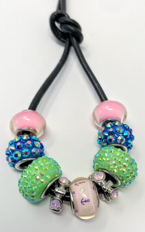 Loc Tie - Lime Crystal Bling