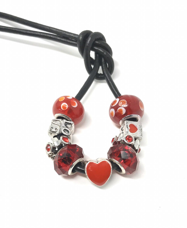 Loc Tie - Red Heart