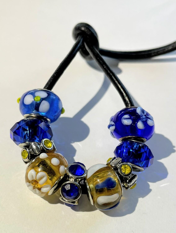 LT - Blue Gold Flowers